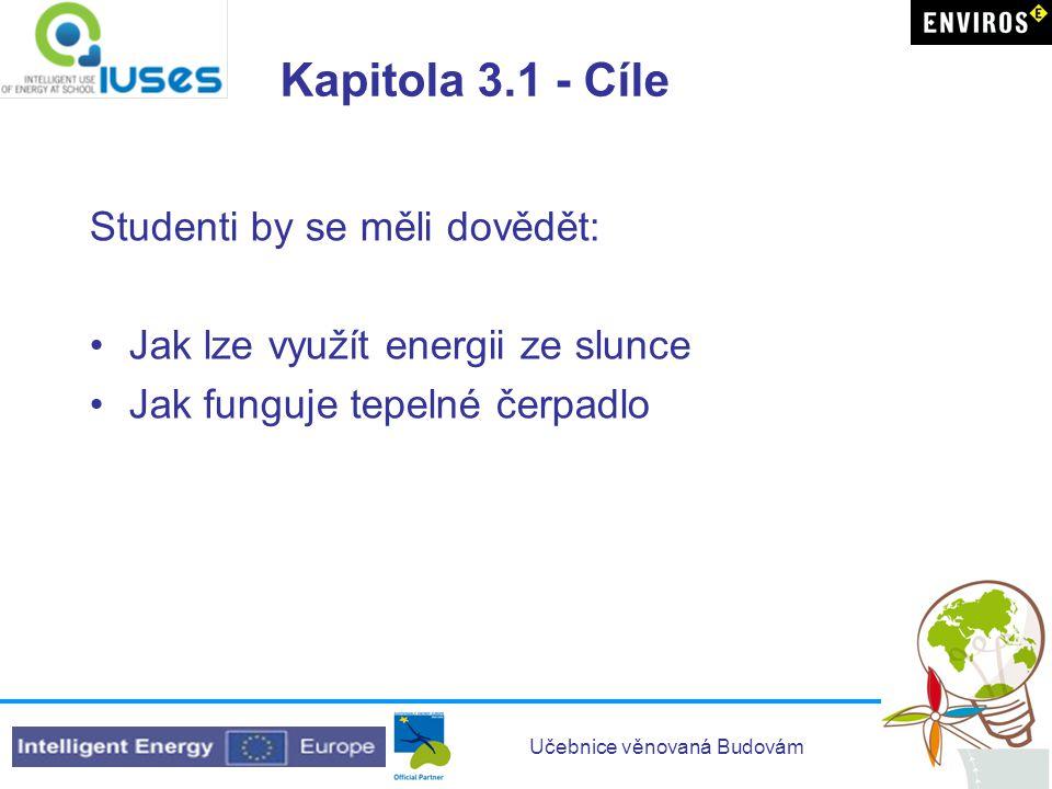 Kapitola 3.1 - Cíle Studenti by se měli dovědět: