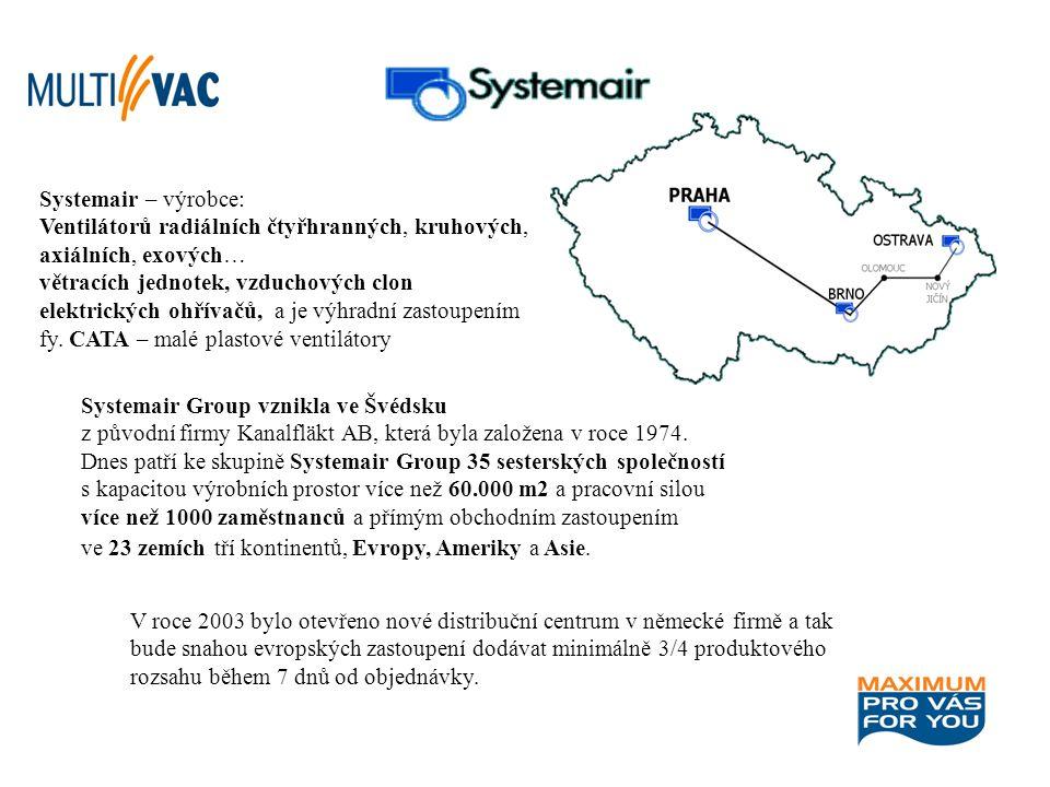 Systemair – výrobce: Ventilátorů radiálních čtyřhranných, kruhových, axiálních, exových… větracích jednotek, vzduchových clon.