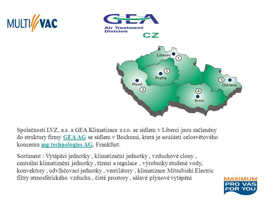 Společnosti LVZ, a. s. a GEA Klimatizace s. r. o