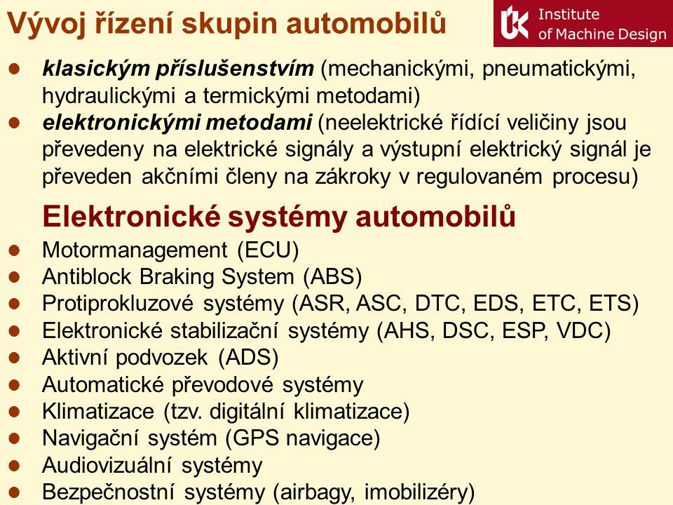 Vývoj řízení skupin automobilů