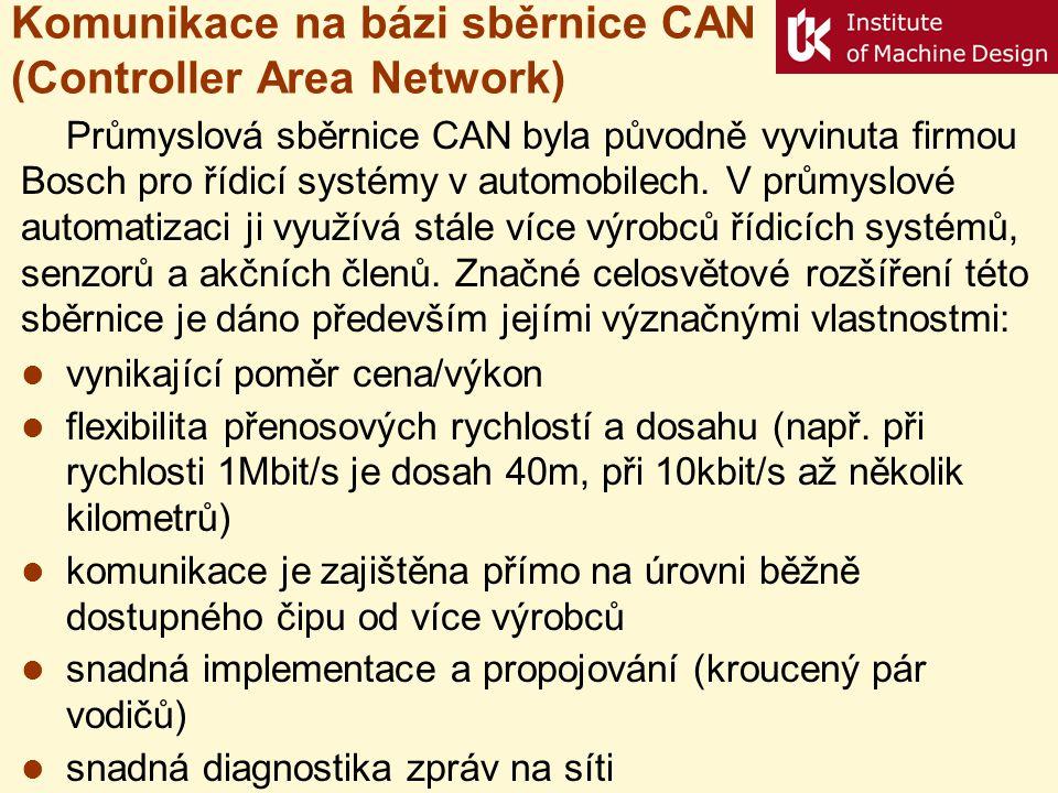 Komunikace na bázi sběrnice CAN (Controller Area Network)
