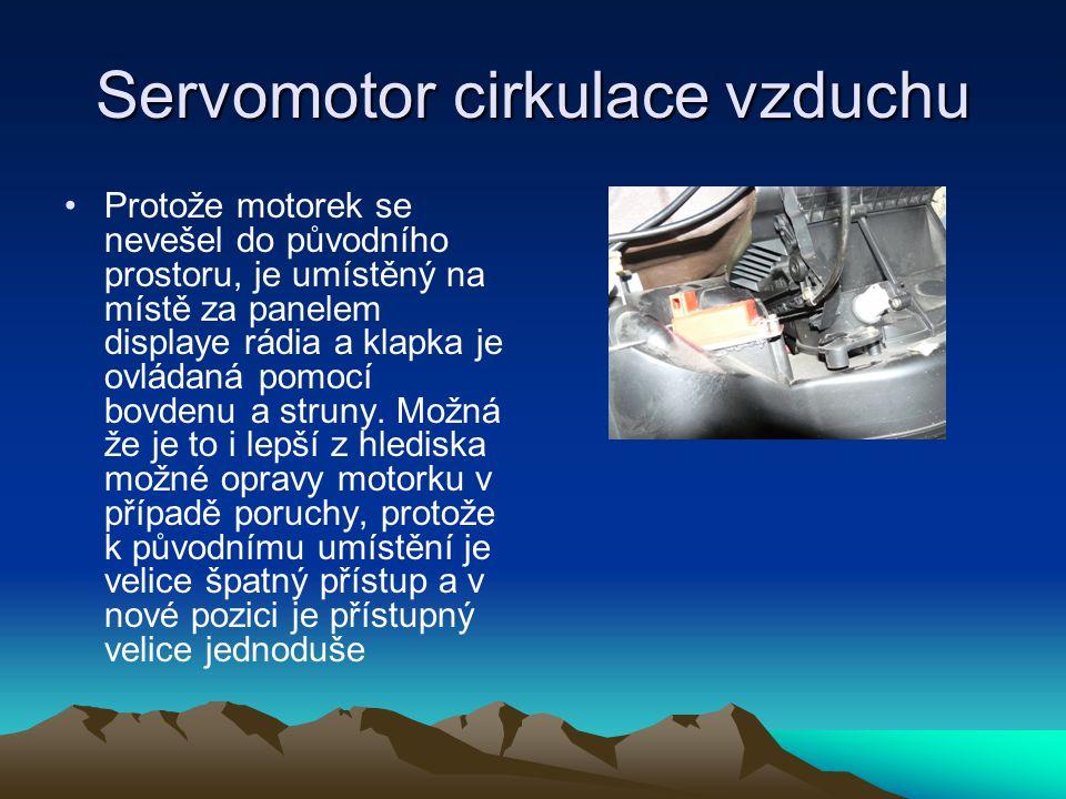 Servomotor cirkulace vzduchu