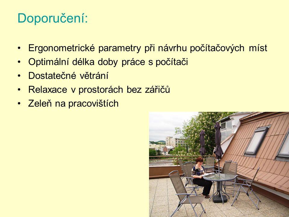 Doporučení: Ergonometrické parametry při návrhu počítačových míst