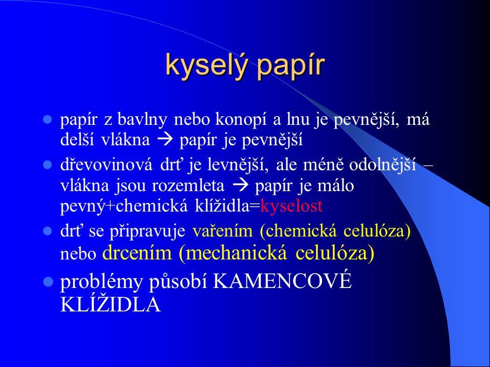 kyselý papír problémy působí KAMENCOVÉ KLÍŽIDLA