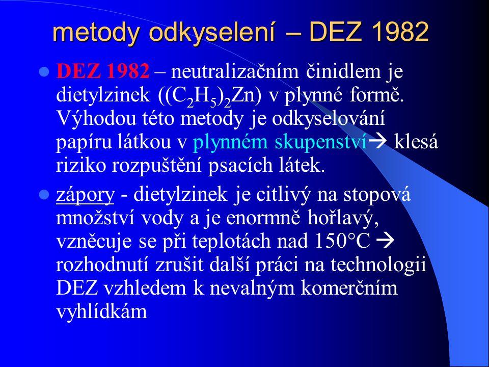 metody odkyselení – DEZ 1982