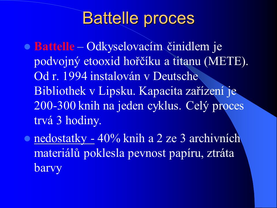 Battelle proces