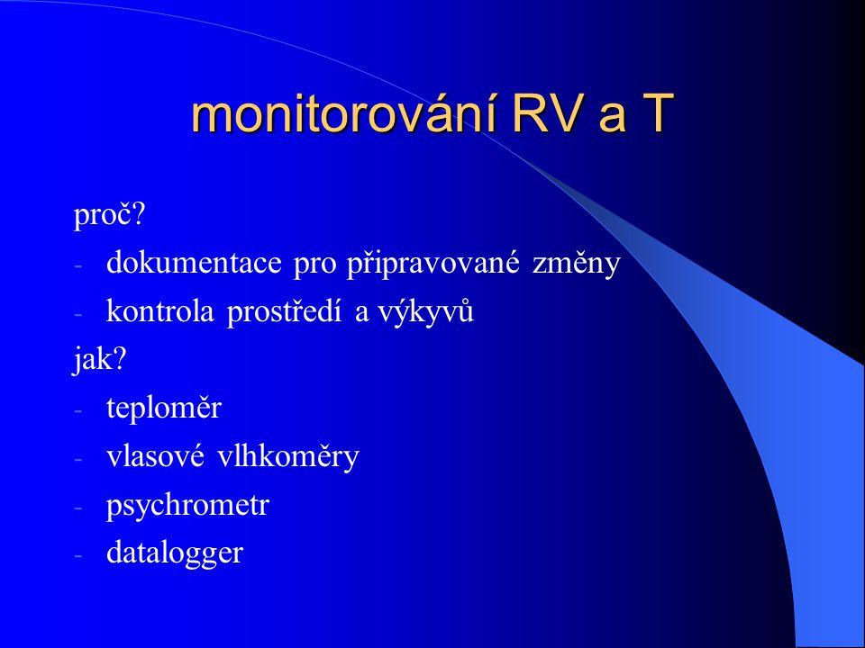 monitorování RV a T proč dokumentace pro připravované změny