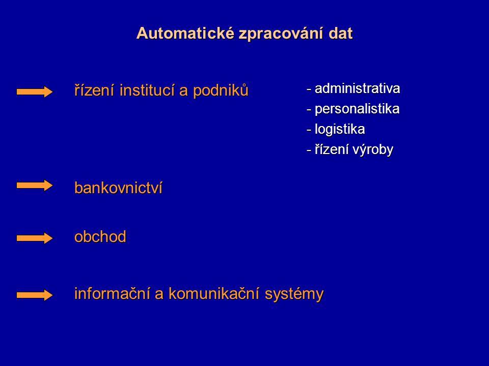 Automatické zpracování dat