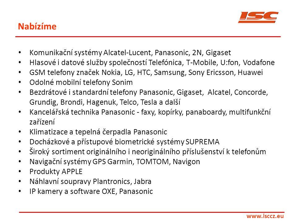 Nabízíme Komunikační systémy Alcatel-Lucent, Panasonic, 2N, Gigaset