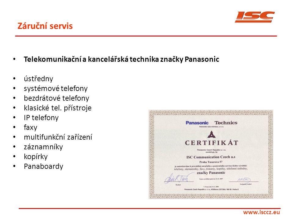 Záruční servis Telekomunikační a kancelářská technika značky Panasonic