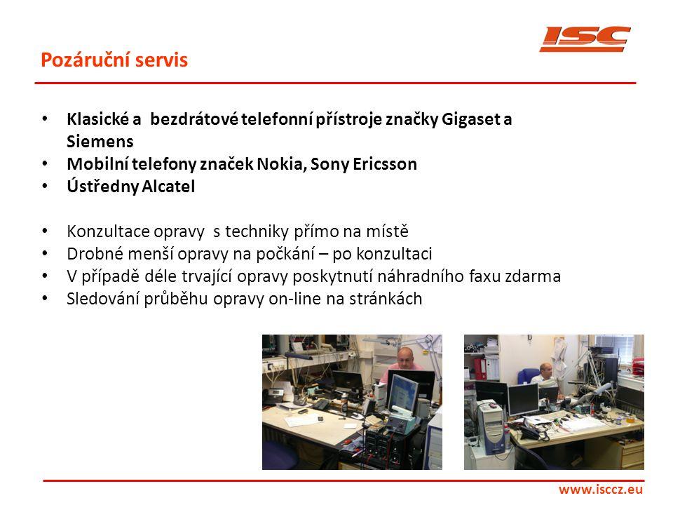 Pozáruční servis Klasické a bezdrátové telefonní přístroje značky Gigaset a Siemens. Mobilní telefony značek Nokia, Sony Ericsson.