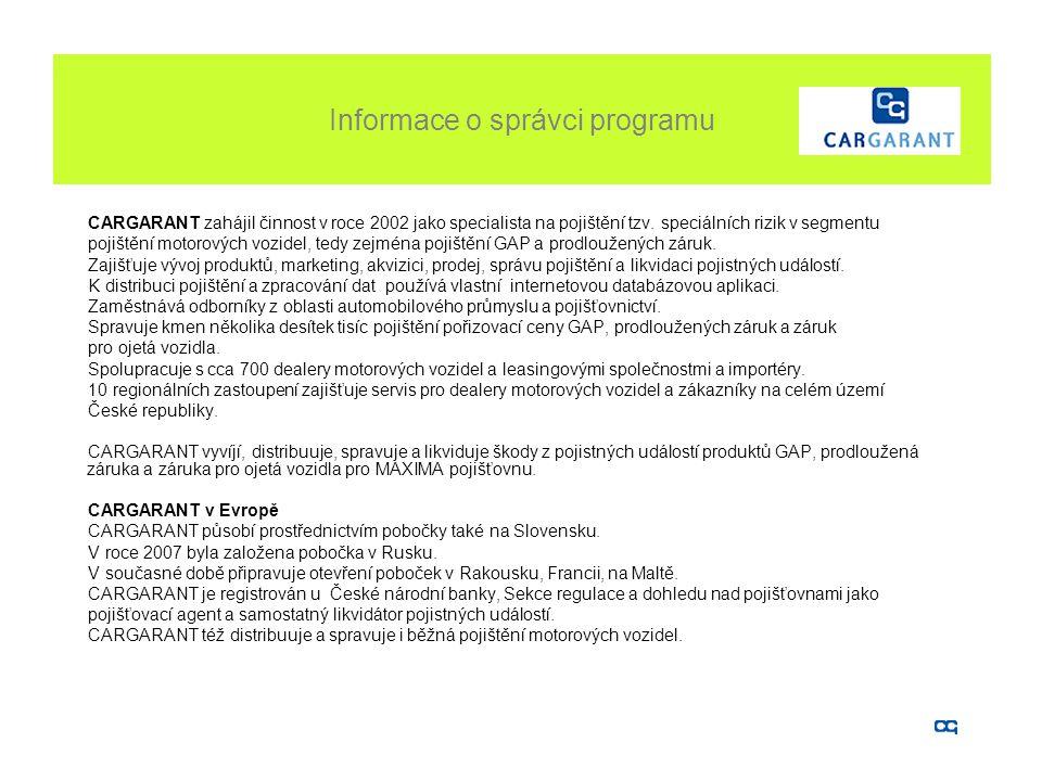 Informace o správci programu