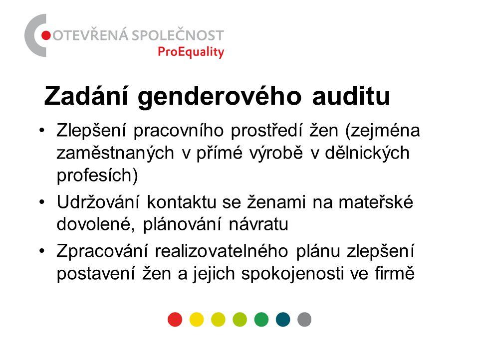 Zadání genderového auditu