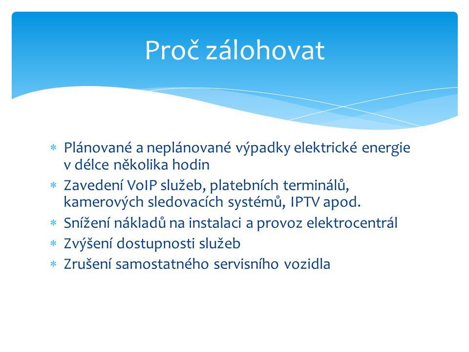 Proč zálohovat Plánované a neplánované výpadky elektrické energie v délce několika hodin.