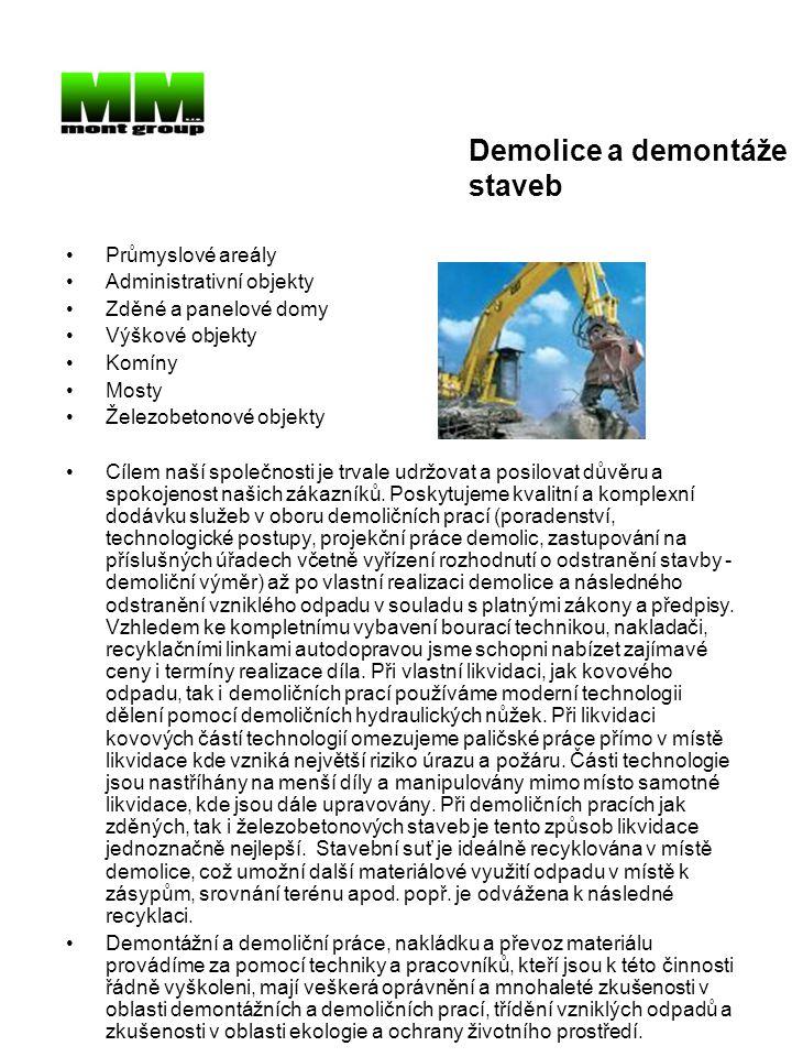 Demolice a demontáže staveb