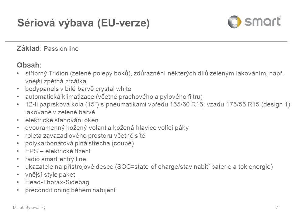 Sériová výbava (EU-verze)