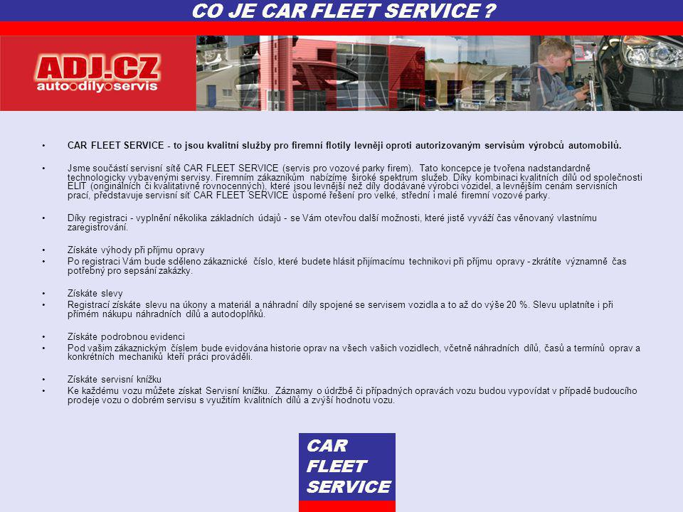 CO JE CAR FLEET SERVICE CAR FLEET SERVICE