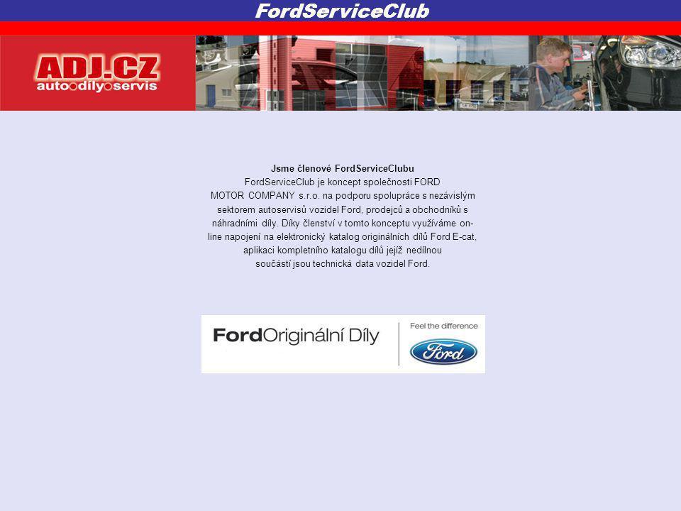 Jsme členové FordServiceClubu