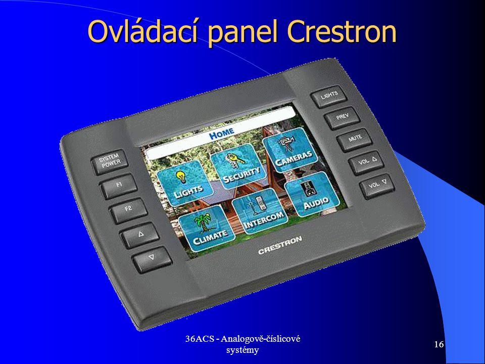 Ovládací panel Crestron