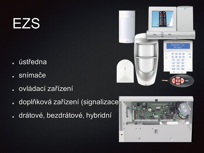 EZS ústředna snímače ovládací zařízení
