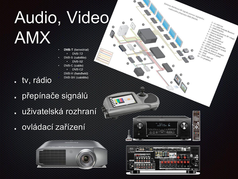 Audio, Video AMX tv, rádio přepínače signálů uživatelská rozhraní