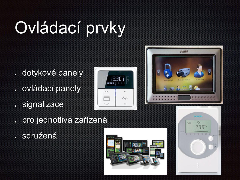 Ovládací prvky dotykové panely ovládací panely signalizace