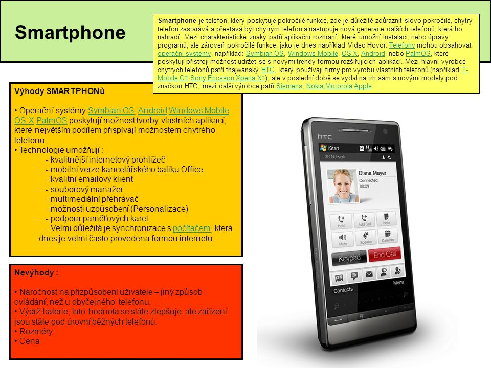 Smartphone Výhody SMARTPHONů