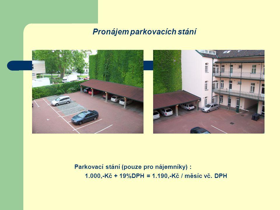 Pronájem parkovacích stání