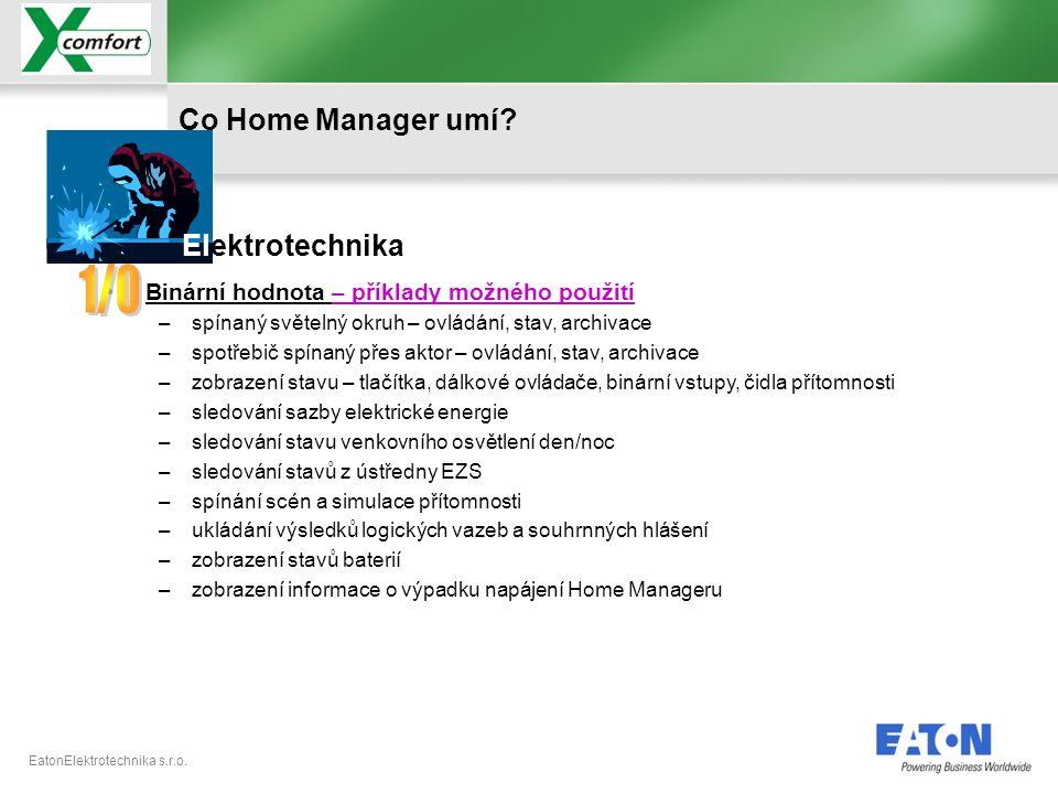 1/0 Co Home Manager umí Elektrotechnika