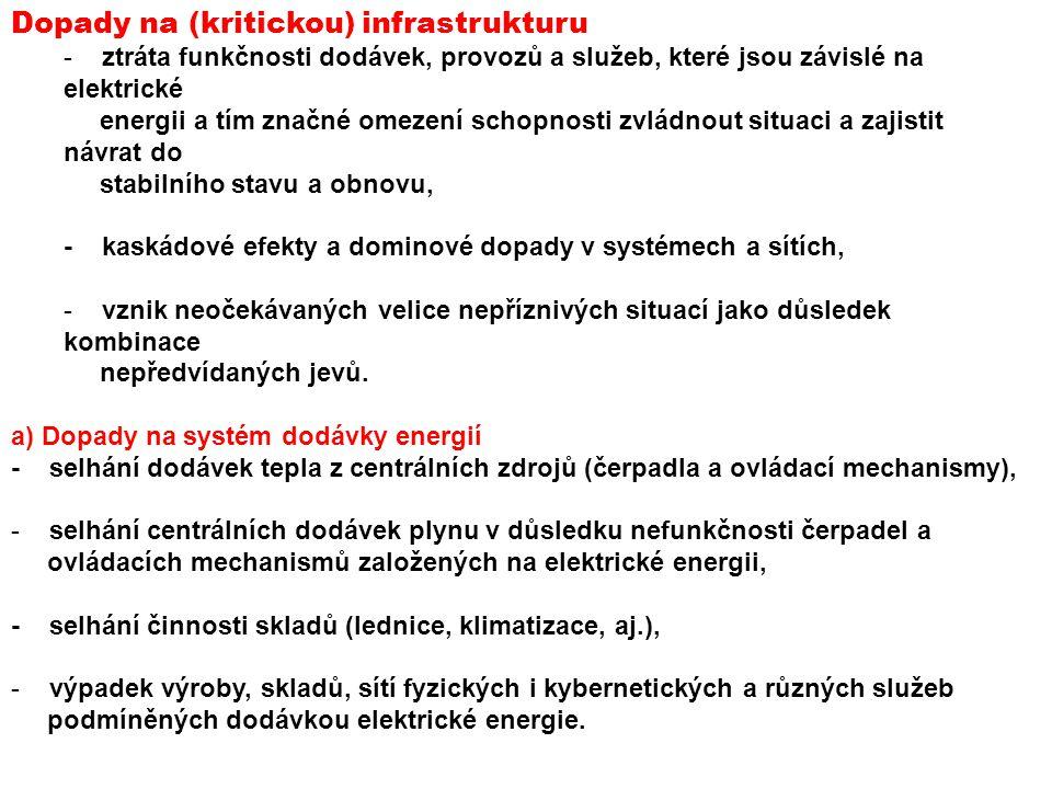 Dopady na (kritickou) infrastrukturu