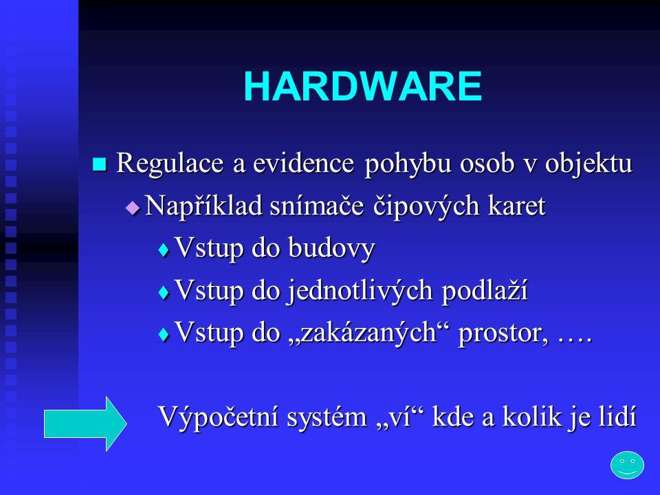 HARDWARE Regulace a evidence pohybu osob v objektu