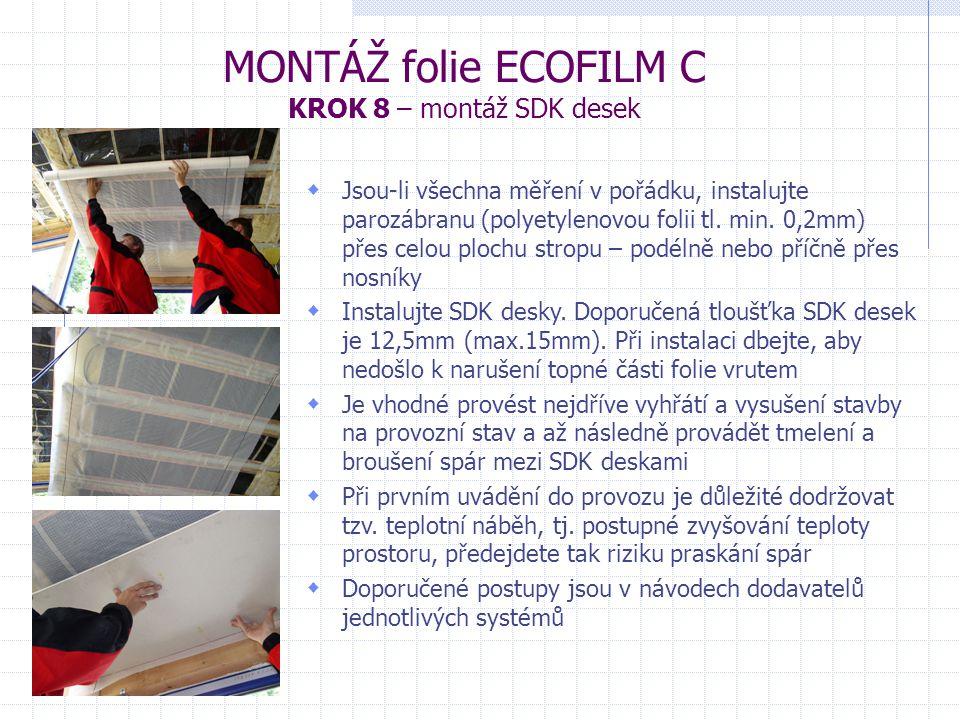 MONTÁŽ folie ECOFILM C KROK 8 – montáž SDK desek