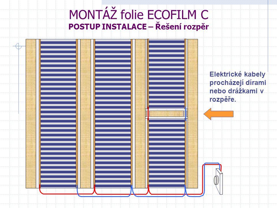 MONTÁŽ folie ECOFILM C POSTUP INSTALACE – Řešení rozpěr