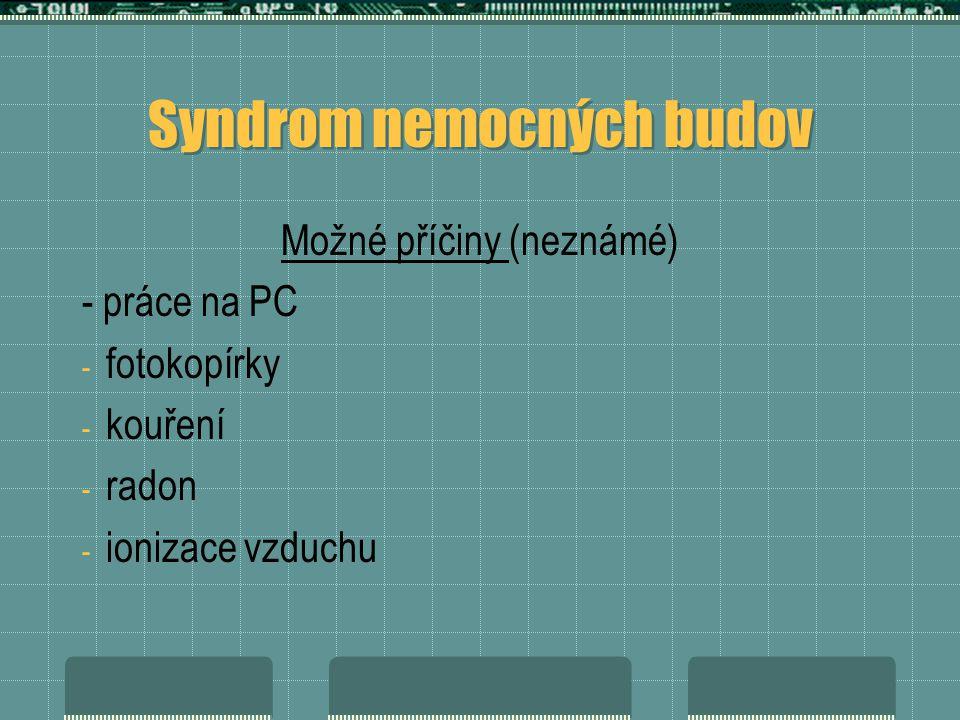 Syndrom nemocných budov
