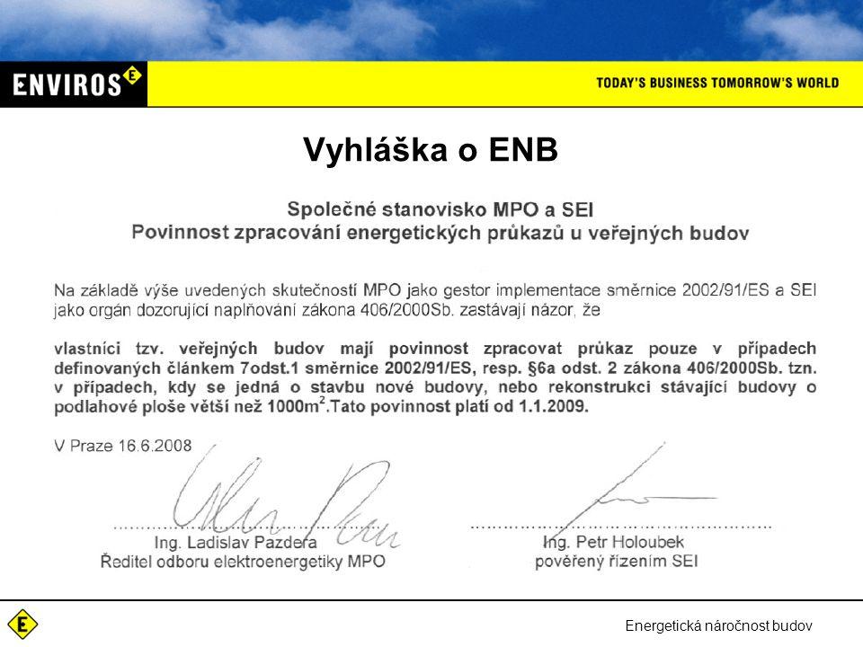 Vyhláška o ENB Energetická náročnost budov