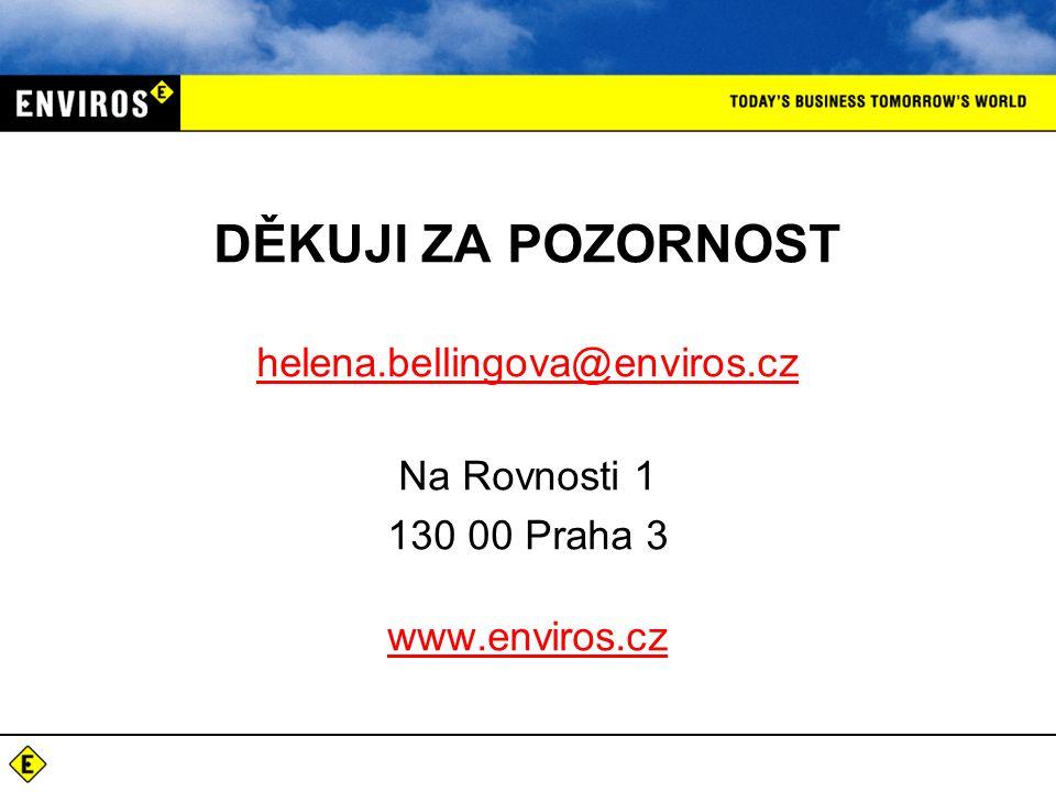 DĚKUJI ZA POZORNOST helena. bellingova@enviros