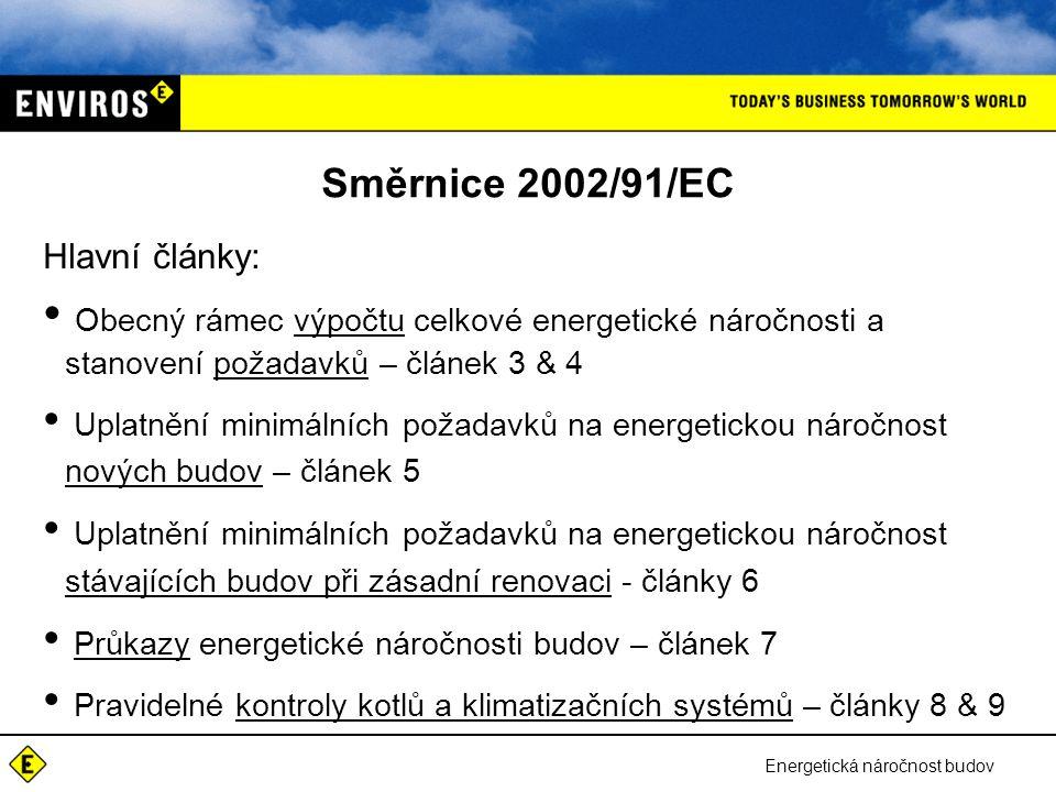 Směrnice 2002/91/EC Hlavní články: