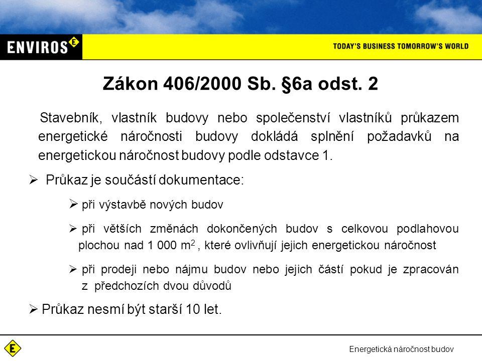 Zákon 406/2000 Sb. §6a odst. 2