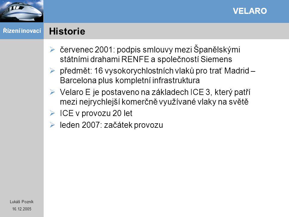 Historie červenec 2001: podpis smlouvy mezi Španělskými státními drahami RENFE a společností Siemens.