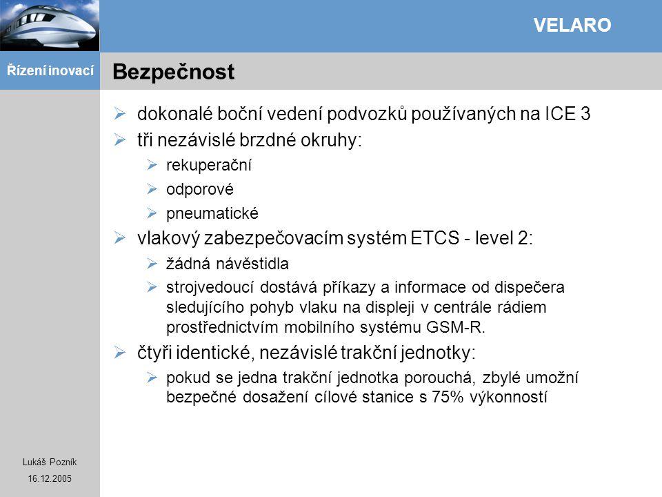 Bezpečnost dokonalé boční vedení podvozků používaných na ICE 3