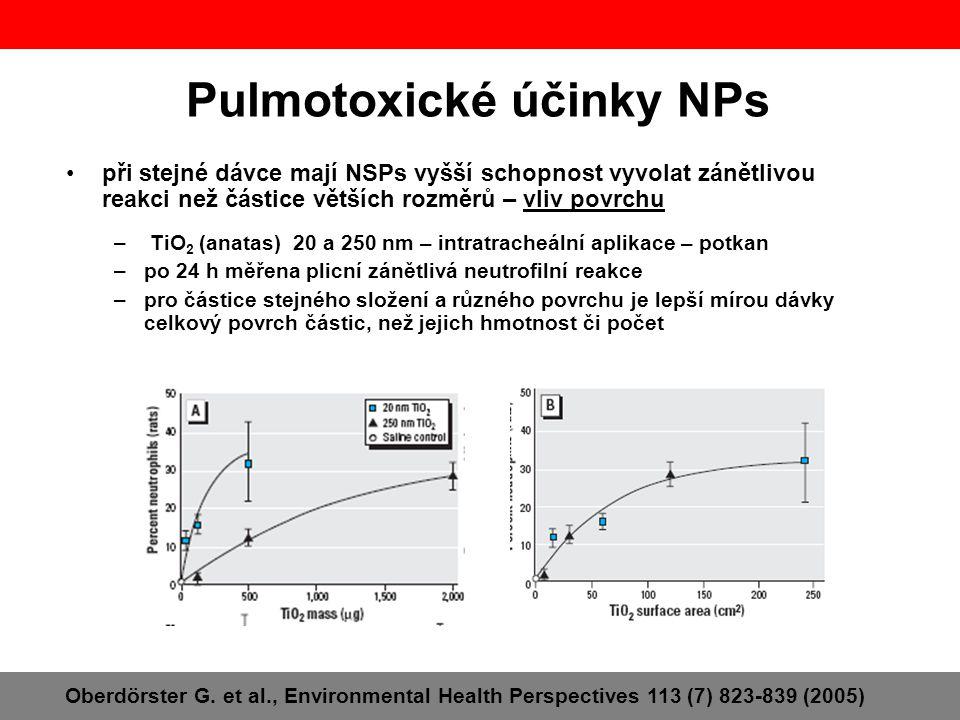 Pulmotoxické účinky NPs