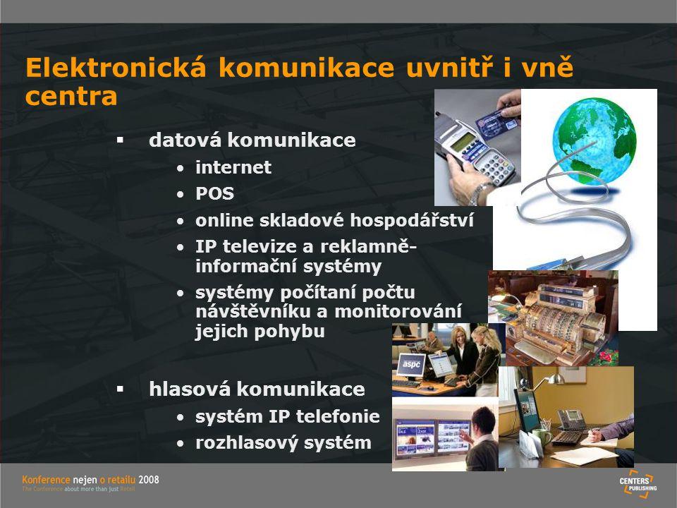 Elektronická komunikace uvnitř i vně centra
