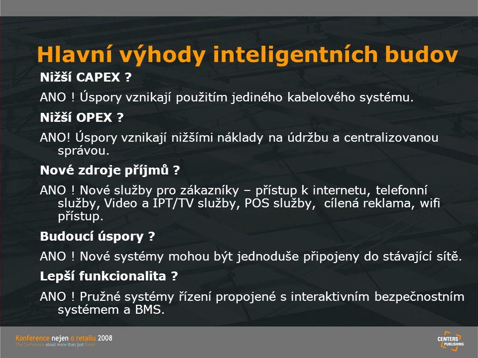 Hlavní výhody inteligentních budov