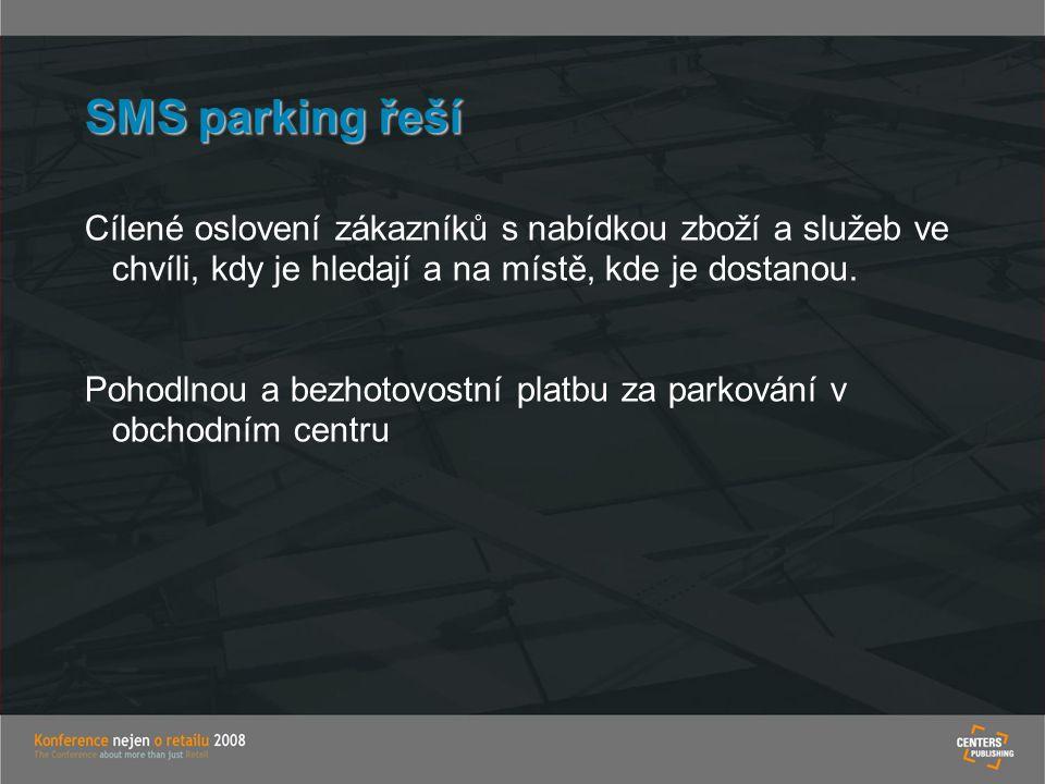 SMS parking řeší Cílené oslovení zákazníků s nabídkou zboží a služeb ve chvíli, kdy je hledají a na místě, kde je dostanou.