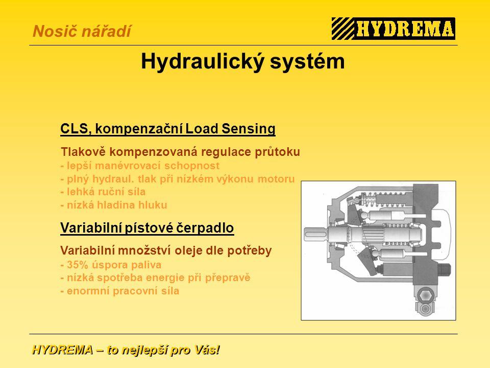 Hydraulický systém CLS, kompenzační Load Sensing