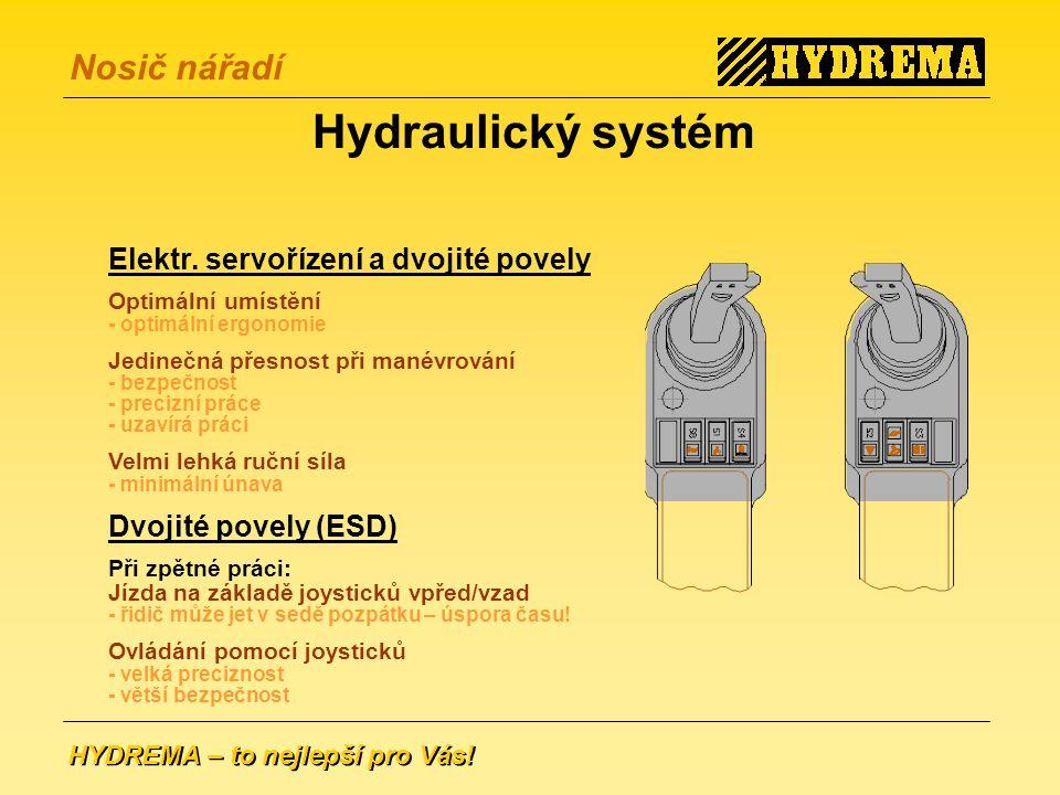 Hydraulický systém Elektr. servořízení a dvojité povely