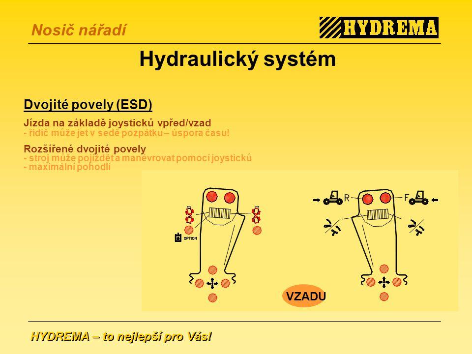 Hydraulický systém Dvojité povely (ESD) VZADU