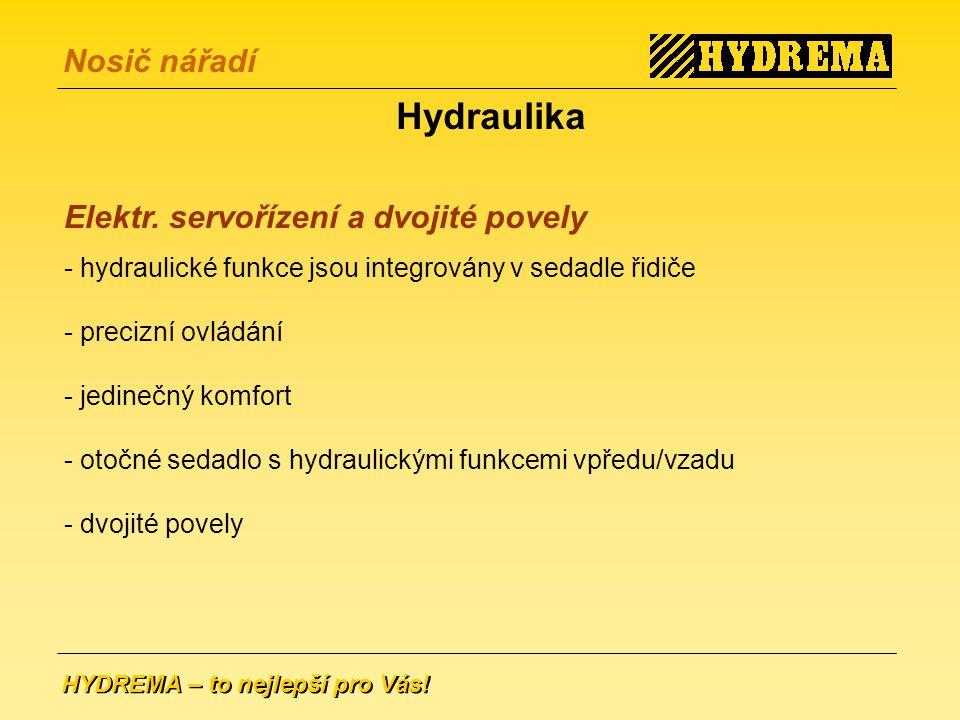 Hydraulika Elektr. servořízení a dvojité povely
