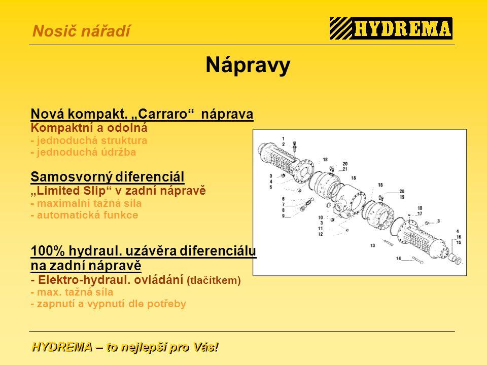 """Nápravy Nová kompakt. """"Carraro náprava Samosvorný diferenciál"""