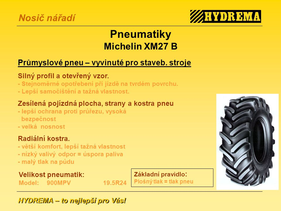 Pneumatiky Michelin XM27 B